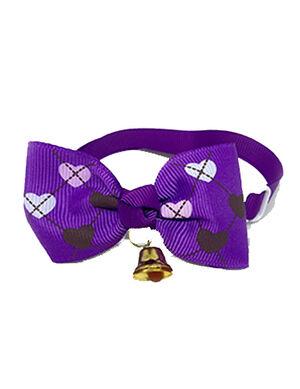 Purple Heart Bow Tie Adjustable
