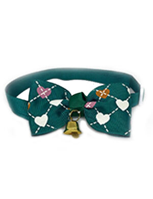Green Heart Bow Tie Adjustable -  Cats product