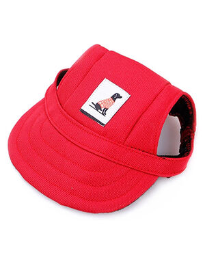 Pet Summer Hat Red Small