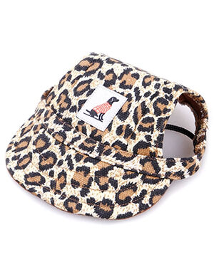 Pet Summer Hat leopard Medium