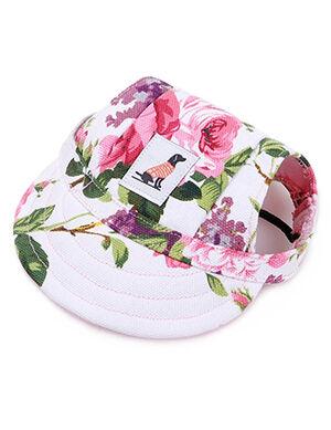 Pet Summer Hat Floral Medium
