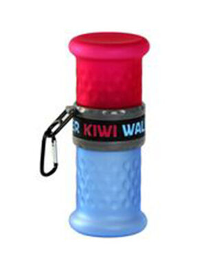 Kiwi Walker Travel Bottle 2in1 Pink/Blue