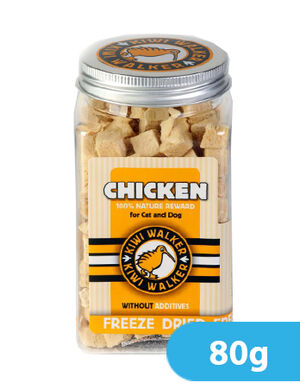 Kiwi Walker Freeze-Dried Snack Chicken Square Jar 80g