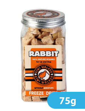 Kiwi Walker Freeze-Dried Snack Rabbit Square Jar 75g