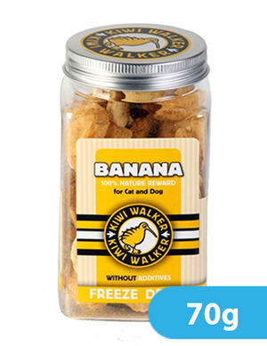 Kiwi Walker Freeze-Dried Snack Banana Square Jar 70g