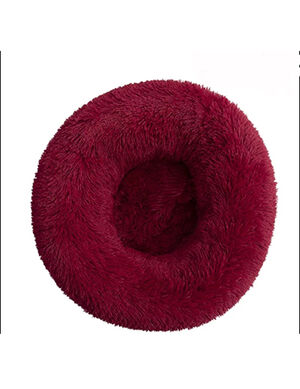 Red Fluffy Bed Medium