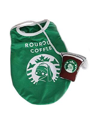 Green Cute Coffee T-Shirt Large