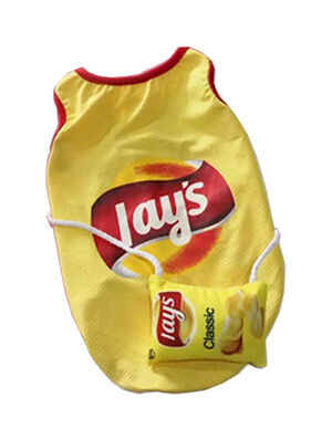 Yellow Cute Lay's T-Shirt X-Large