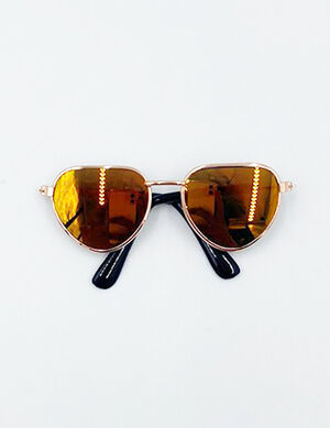 Small Fashion Pet Sunglass Yellow
