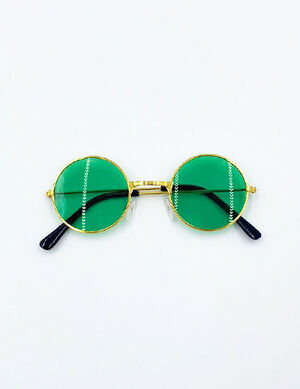 Round Fashion Sunglass Green