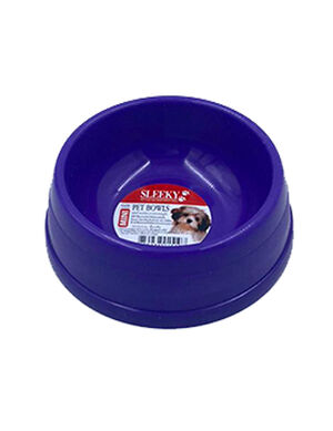Sleeky Purple Plastic Pet Bowl Medium