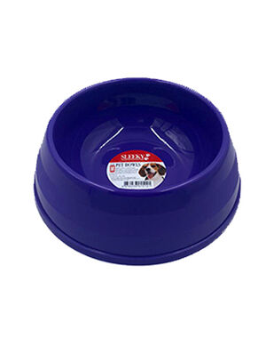 Sleeky Purple Plastic Pet Bowl Small