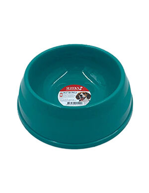 Sleeky Green Plastic Pet Bowl Small