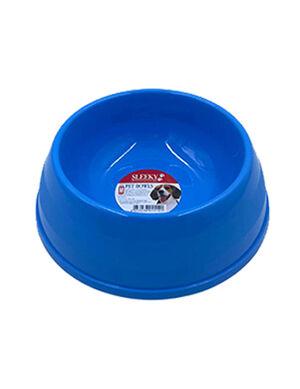 Sleeky Mini Blue Plastic Pet Bowl 6