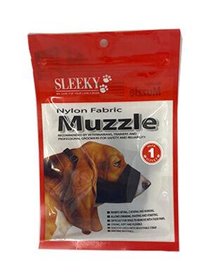 Sleeky Black Nylon Fabric Muzzle Size 1