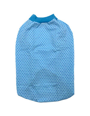 Sleeky Light Blue with Heart Dogs Wear Size 5 -  Dogs product
