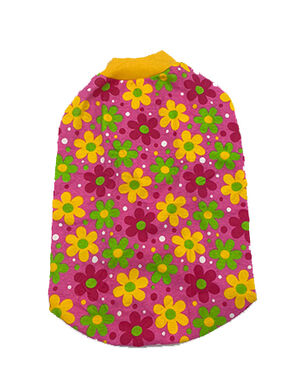 Sleeky Red with Flower Dogs Wear Size 5 -  Dogs product