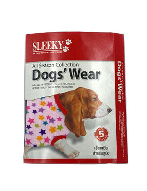 Sleeky Pink with Star Dogs Wear Size 5