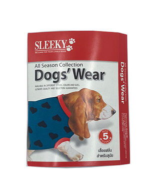 Sleeky Dark Blue with Heart Dogs Wear Size 5