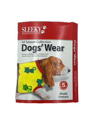 Sleeky Dark Yellow with Cat Dogs Wear Size 5 -  Dogs product