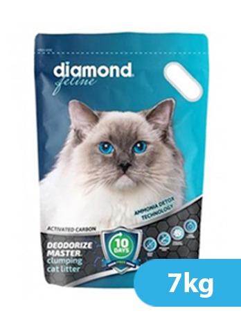 Diamond Feline Deodorize Master  Clumping Cat Litter 7Kgs – 15.4 LBS.