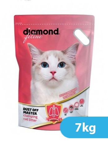 Diamond Feline Dustoff Master  Clumping Cat Litter 7Kgs – 15.4 LBS.