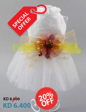 20% White Party Dress Medium
