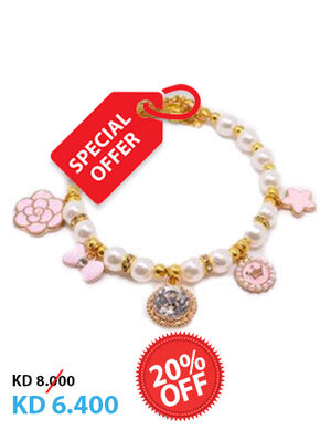 20% White & Pink Pearl Neckless X-Small