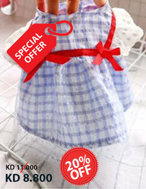 20% Blue Red Ribbon Dress Large -  Dogs product