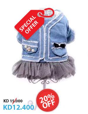 20% Light Blue Jeans Dress Medium