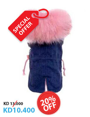 20% Pink Fur Coat X-Small