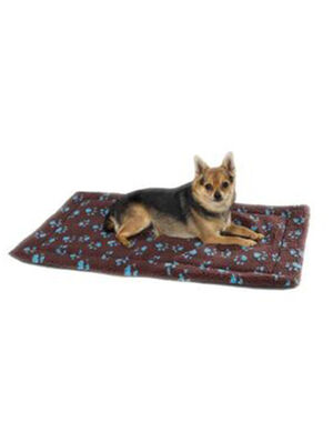 PetEdge SP ThermaPet Paw Print Crate Mat Large Brown