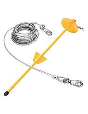 PetEdge Tie-Out & Dome Stake Combo 30ft X-Large