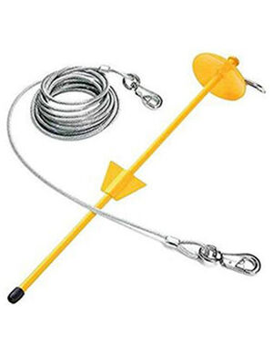 PetEdge Tie-Out & Dome Stake Combo 15ft X-Large