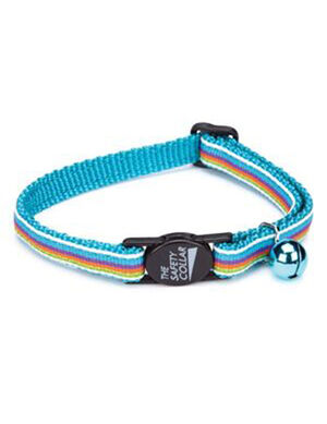 PetEdge ST Nylon w/Ribbon Collar 8-12 Inches Blue Stripe -  Dogs product