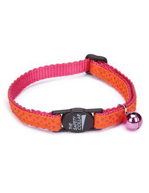 PetEdge ST Nylon w/Ribbon Collar 8-12 Inches Pink Dot -  Dogs product