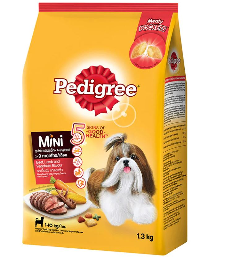 Pedigree Small Breed Beef Lamb and Vegetables Flavor 1.3kg.