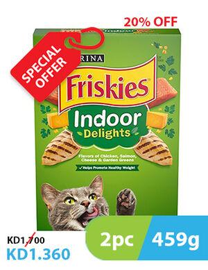20% Purina Friskies Indoor Delights Cat Food 2pc x 459g -  Cats product