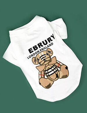 White Burberry Bear Shirts Medium