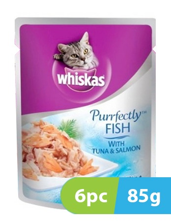 Whiskas Purrfectly Fish with Tuna & Salmon 6pc x 85g -  Cats product