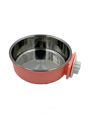 Pet Stainless Steel Bowl Neon Peach