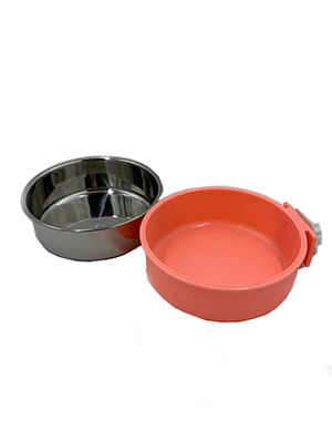 Pet Stainless Steel Bowl Neon Peach -  Dogs product