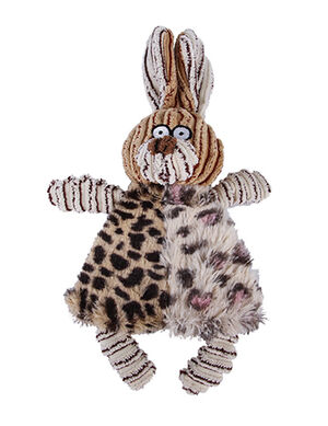 Rabbit Squeaky Interactive Plush Brown