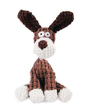Dog Plush Squeaky Brown
