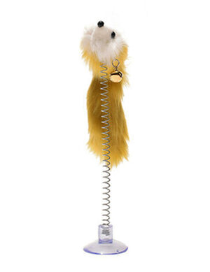 Yellow Feathers Funny Cat Mouse with Bell Shape Mouse