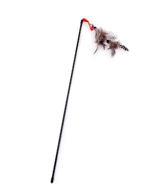 Feather Elastic Cat Toy Teaser Stick with Bell -  Cats product
