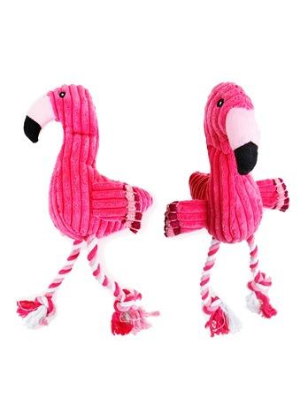 Flamingo Plush Squeak Dog Toy Sound