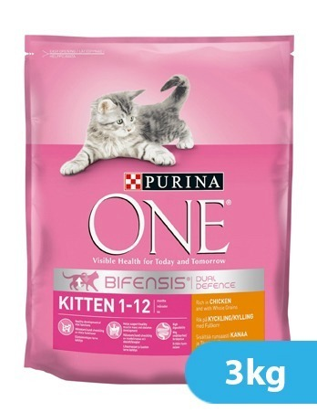 Purina One Kitten Junior Chicken and Whole Grain 3 kg
