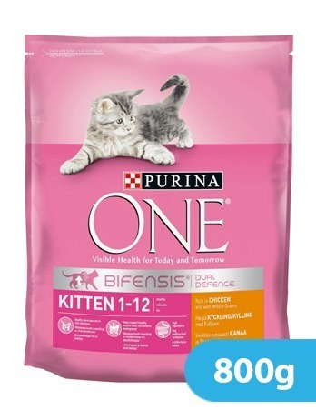 Purina One Kitten Junior Chicken and Whole Grain 800 g