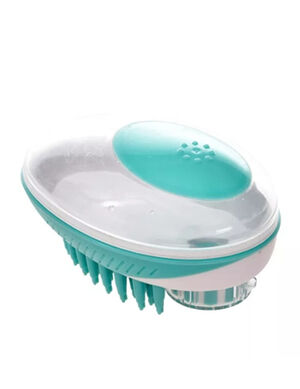 Pet Bath Brush Green